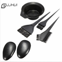 GUJHUI Useful 5Pcs/Set Hair Color Dye Tint With Hair Brushes Bowl Combo Hair Tools Fashion Designed Hair Dye