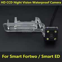 For Mercedes Benz Smart Fortwo / Smart ED Car CCD 4 LED Night Vision Backup Rear View Camera Parking Assistance Waterproof