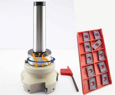 New MT3 M12 +face end mill BAP400R-80-27 +10pcs APMT1604 carbide insert CNC Mill<br><br>Aliexpress