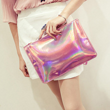 High Quality Laser women bags Designer clutch bag Fashion women messenger bags ladies Envelope Clutches handbag Best Selling(China)