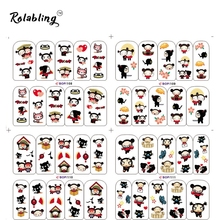 2017 Very Popular Funny Cartoon Character Series Fashion Water Nail Decals Decorate Fingernails Nail Water Sticker