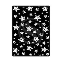 ULF16 New Arrival Custom black and white Home Decoration Bedroom Supplies Soft Fleece Blanket size 58x80,50X60,40X50inch(China)