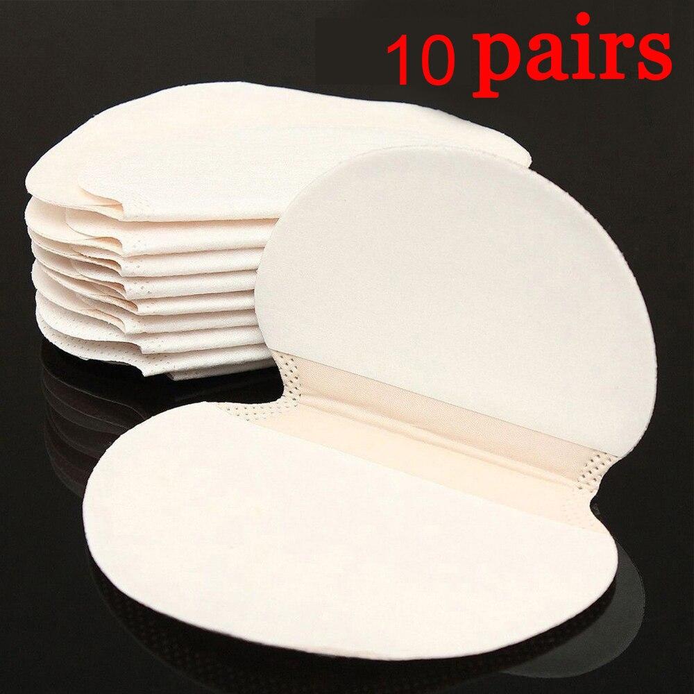 10pairs Disposable Sweat Pad Antiperspirant Underarm Armpit Guard Sheet Shield