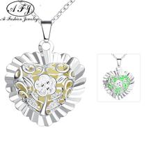 Charm Fashion Heart-shaped Luminous Pattern Pendant Necklace High Quality For Women Girl Boy Popular Accessories