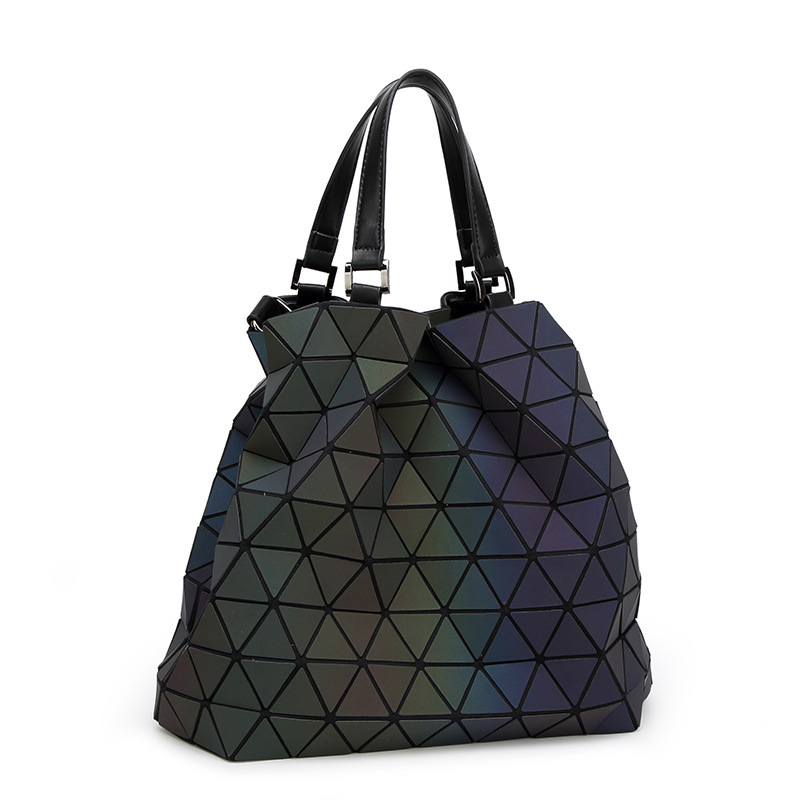 women handbag baobao bag female designers Brand big European style luminous fashion geometric laser ladies hand shoulder bag<br>