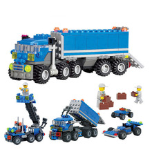 Hot! 163pcs Child Building Blocks Compatible with Transport Dumper Truck Learning School Education Toys Christmas Gift Children