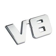 V8 5D Letter Chrome Metal Car Sticker Emblem Auto Decoration BMW 550I Audi A8 Benz E500