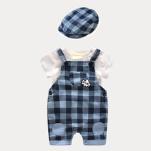 baby boy clothing baby clothes china baby 3pcs newborn clothing sets [ Hat + Romper + T-shirts] Baby boy suit(China)
