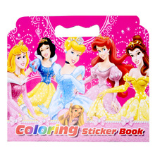 New 16 Pages Snow White Coloring Sticker Book For Children Adult Relieve Stress Kill Time Graffiti Painting Drawing Art Book(China)