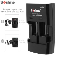 Soshine S5 2-Slot CR2 CR123A 16340 17355 lithium battery Charger Input Voltage AC 100~240V 50/60 HZ DC 12V(China)