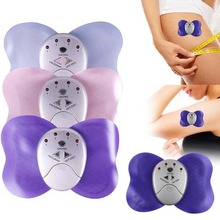 electric massager body Mini Losing Weight Slimming Butterfly Massager Cheap Electronic Body Arm Leg back chest Muscle Massage(China)