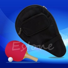 Hot Black Waterproof Table Tennis Racket Bag PingPong Paddle Bat Case w/ Ball Pouch New Free Shipping
