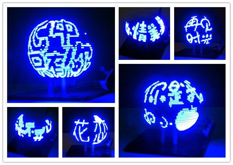 56 Lamp POV Rotary Clock Parts DIY Electronic Welding Rotary Lamp Spherical Rotating LED Kit Kit<br>