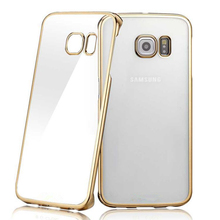 Plating Gilded TPU silicone Cover For Samsung Galaxy S3 S4 S5 S6 S7 Edge J1 J3 J5 A3 A5 2016 For iPhone 5 5S SE 6 6s 7 Plus case