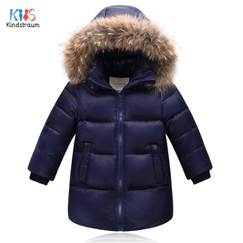 Kindstraum 2017 Boys &amp; Girls Imitation Fur Hooded Parkas Winter Children Thick Down Clothes Fashion Solid Coats for Kids,RC1603Îäåæäà è àêñåññóàðû<br><br>
