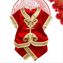 boy clothes set in Chinese trandtional style with peace,happy, all goes good meaning clothes(China)