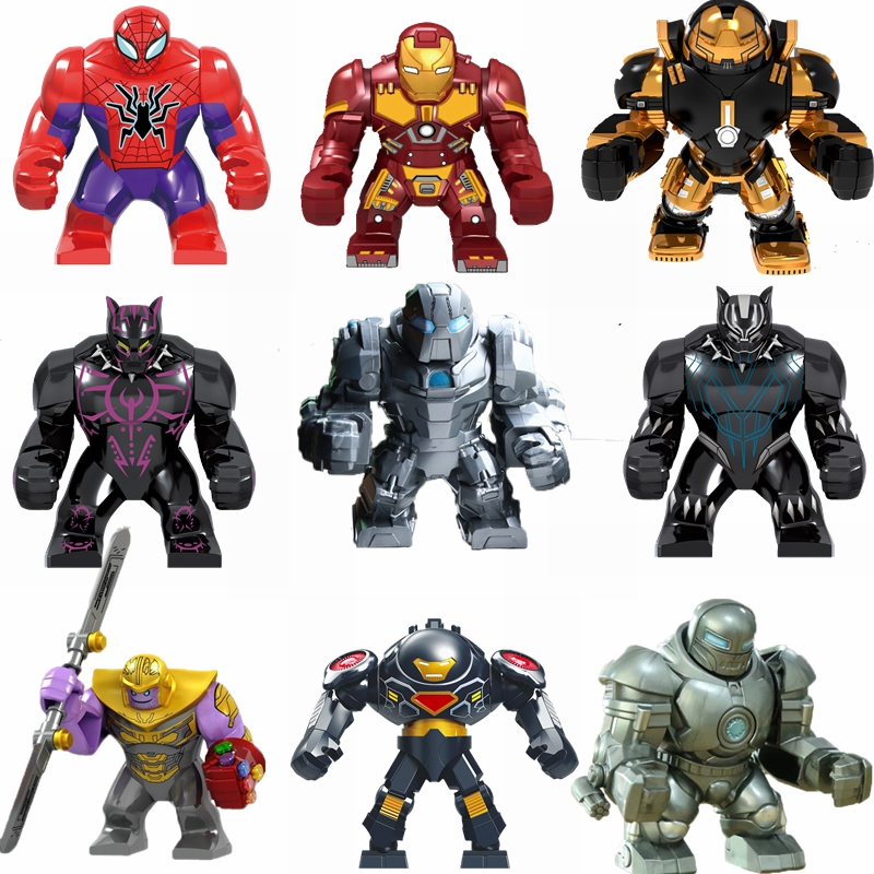 Marvel series building blocks Iron Man Batman Spider-Man character model Marvel series children educational building blocks toys