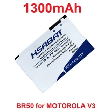 HSABAT 1300mAh BR50 Battery for Motorola RAZR V3 V3c V3E V3m V3T V3Z V3i V3IM PEBL U6 Prolife 300 500(China)