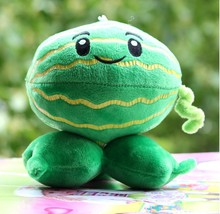 Free Shippingy 15cm High quality PP Cotton Plants vs Zombies In Watermelon Shooter , Lovely Plush Toys For Children(China)