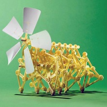 DIY Creature Puzzle Wind Powered Walker Walking Strandbeest Assembly Powerful model Kits Toy Children Gift