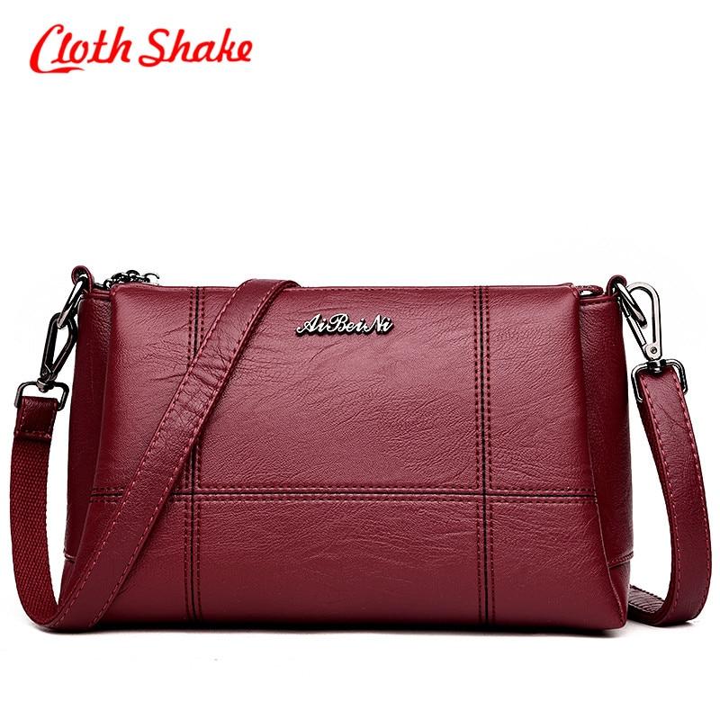 Cloth Shake Women Handbag PU Leather Plaid Messenger Bags Sac Shoulder Bags Women Crossbody Bag Ladies Designer Top Sale Handbag<br>