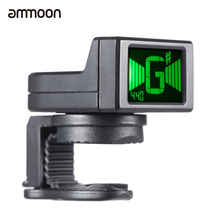 ammoon AT-08 Mini Digital Guitar Tuner LCD Clip-on Tuner for Acoustic Electric Guitar Bass Violin Ukulele Chromatic(China)