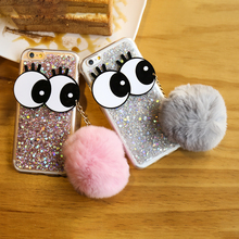Bling Sequins Silicone Case For Iphone 6S 6 7 Plus Cases Luxury Glitter 3D Big Eyes Cute Korean Phone Cases Cover For Iphone 7 6