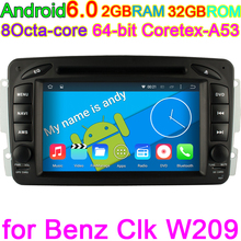 In Stock ANDROID 6.0 Octa Core Computer CAR DVD PLAYER For Mercedes/Benz/W209/W203/W168/M/ML/W163/W463/Viano/W639/Vito/Vaneo