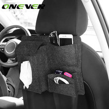 Onever Universal Car Seat Back Organizer Bag Auto Travel Stowing Tidying Pocket Storage Bag for Glasses Tissue Box Phone Holder