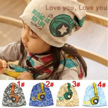 Hot Sale New 2017 Spring Baby Kid Infant Sanded Cotton Headset Print Cap Children Beanie Headphone Hats Kid's Accessories