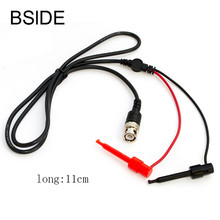 1M BNC Male Plug To Dual Hook Clip Test Probe Cable Lead Wire Connector(China)