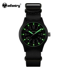 INFANTRY Mens Watches Tactical Army Luminous Watches Durable G10 Nylon Strap Hattori Japanese Quartz Watches Relojes Clock
