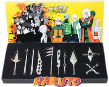 NARUTO Hatake Kakashi Deidara Kunai Shuriken Weapons Pendant Cosplay retail 10 pcs/lot(China)