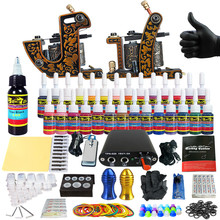 Solong Tattoo Complete Tattoo Kit for Beginner Starter 2 Pro Machine Guns 28 Inks Power Supply Needle Grips Tips TK204-30