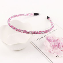 New Arrival High Quality Fashion Crystal Shine Women Headband Colorful Elegant Hairband Girl Headwear Hair Band Hair Accessories