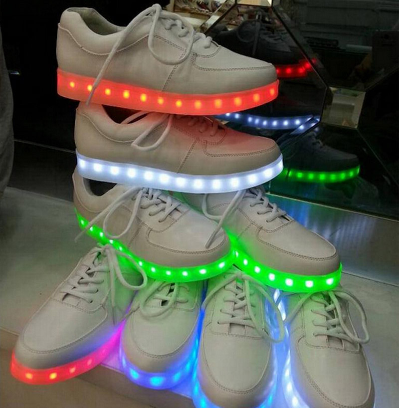 LED Shoes 7 Colors LED  Luminous Shoes Men Fashion Light Up Shoes For Adults Basket LED 6c53<br><br>Aliexpress
