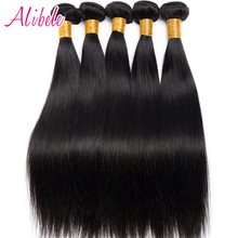 Alibele Peruvian Straight Hair Weave Bundles 100% Human Hair Weaving Natural Color Non Remy Hair Extensions 100G/Piece 10~28inch(China)