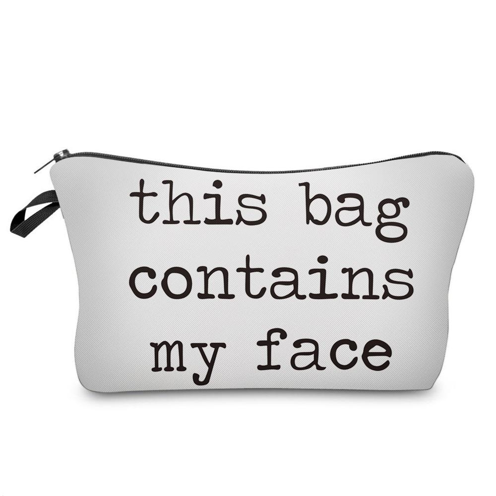 """I Like My Eyelashes"" Printed Makeup Bag Organizer 16"