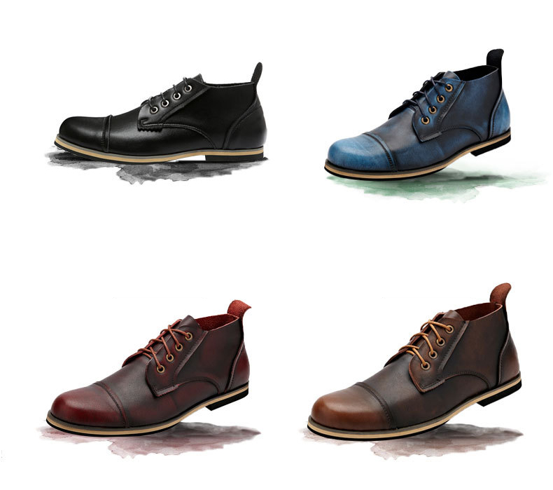 COSIDRAM Plus Size 47 Men Boots Genuine Leather High Top Men Shoes Fashion Ankle Boots For Men Winter Shoes Male Botas RMC-082 1