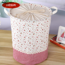 35x45cm Colorful Plaid Laundry Bag With Cover Cotton Washing Laundry Basket Dirty Clothing Bags Toy Storage Bag UIE650(China)