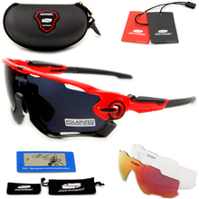 QUESHARK BRAND NEW TR90 Frame Polarized UV Lens Cycling Sunglasses Glasses Bike Bicycle GLasses 3 Lens(China)