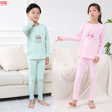 2018 Autumn winter kids underwear set cotton boys girls long johns children underwear kids clothes(China)