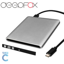 New arrival wholesale ODP95S Case With Type C Cable USB 3.0 External DVD Rom Case to 9.5mm SATA Enclosure for CD DVD RW