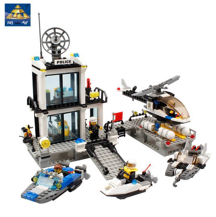 Police Station Truck City Plane ship Motorcycle Building Block Set KAZI 6726/6727 Education Figures Bricks Toys S121<br><br>Aliexpress
