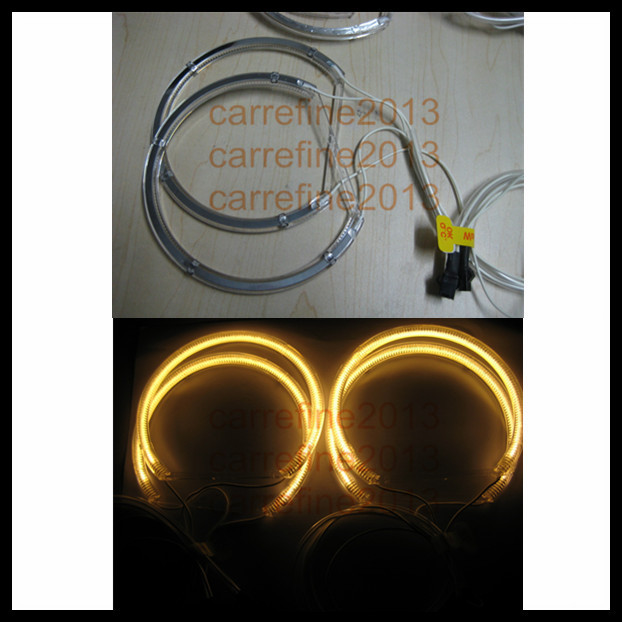 ccfl led headlight rings yellow halo ring for BMW E46 ccfl angel eyes E46 xenon projector<br><br>Aliexpress