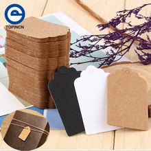 100Pcs Wedding Decoration Kraft Paper Card Favour Kraft Sticker Invitations DIY Tag Label Party Favor Birthday Party Supplies