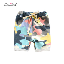 2017 summer domeiland Fashion Children's Clothing Kids Boy Camouflage Army Harem Shorts Pants Sport Camo Cargo Cross Trousers(China)