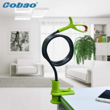 Cobao Goose neck Black 360 Rotation Flexible Long Arm CellPhone Holder Clamp Lazy Bed Car Selfie Mount stand for iPhone xiaomi