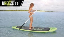 9'9'' BREEZE Surfing Stand Up Paddle Board Sup Surfboard Paddleboard Surf board Kayak Inflatable Boat With Oar
