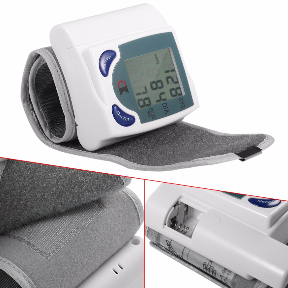 LCD Cuff Arm Wrist Blood Pressure Monitor Meter Household Health Care Healthy Heart Beat Rate Pulse Measure Machine Best Selling 7
